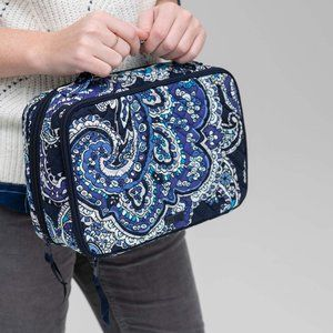 Vera Bradley Large Blush & Brush Case Blue Paisley